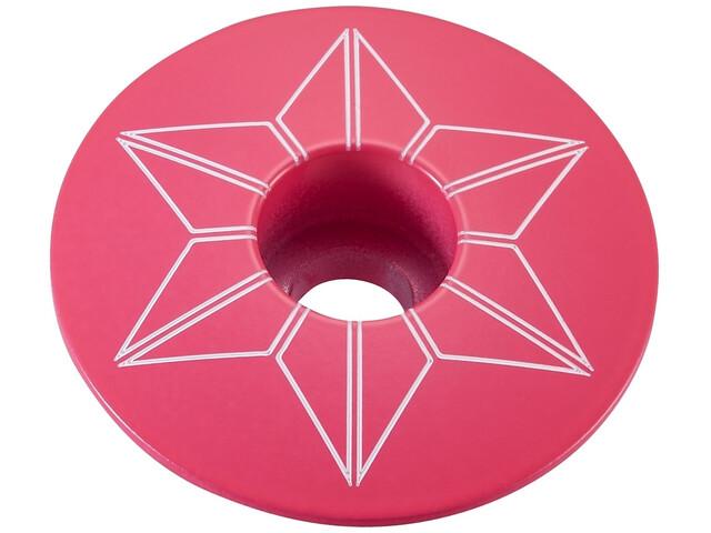 Supacaz Star Capz Ahead-Kappe pulverbeschichtet neon pink